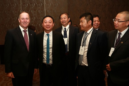 新西兰总理John Key接见黄金宝董事长